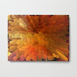 Orange and Red Metal Print