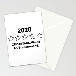 2020 Zero Stars Would Not Recommend White Stationery Cards