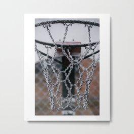 Hoarfrost Hoop Metal Print