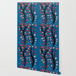 Zen Flowers of Peace Floral Pattern Wallpaper