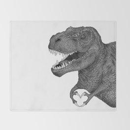 Dino Love Throw Blanket