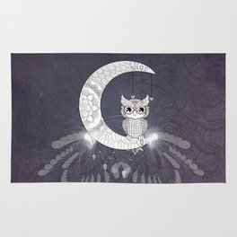 Cute owl, mandala design Rug