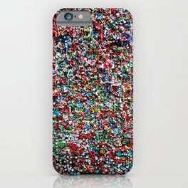 Pop of Color - Seattle Gum Wall iPhone Case