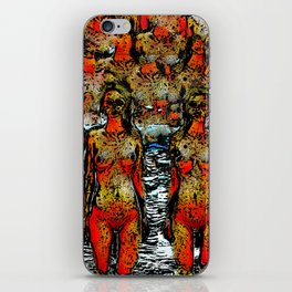 8Nudes standing pattern iPhone Skin