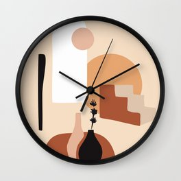 Abstract Elements 18 Wall Clock