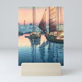 Tsuchiya Koitsu - Seto Inland Sea, Tomonotsu - Japanese Vintage Woodblock Painting Mini Art Print