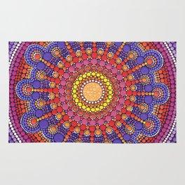 Jewel Drop Mandala Rug
