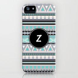Monogram Tribal Pattern *Z* iPhone Case