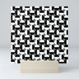 Geometric Circles Grey/Gray Mini Art Print