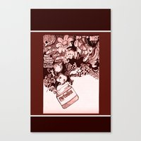 nutella Canvas Prints featuring nutella  by Kim Rose