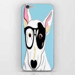 Hipster Bull Terrier iPhone Skin