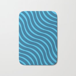 Abstract Waves illusion Pattern - Blue Bath Mat