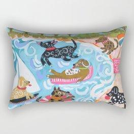 Dogs at Play Rectangular Pillow