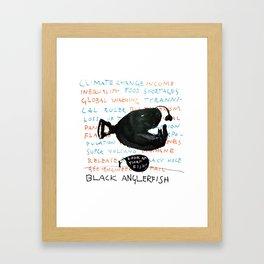 Black Anglerfish Framed Art Print