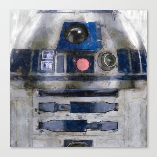 R2D2 Droid Robot StarWars Canvas Print