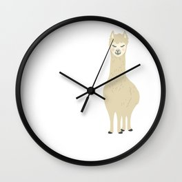 My Llama Don't Like You And She Likes The Everyone Wall Clock