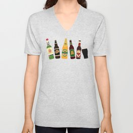 Funny Alcohol Botles Unisex V-Neck