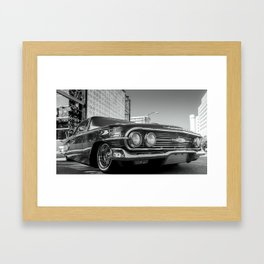 Slow and Low 60 B&W Framed Art Print