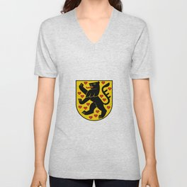 flag of weimar Unisex V-Neck
