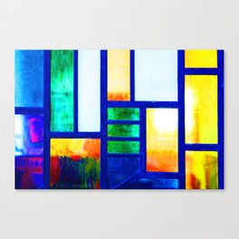 Art Deco Colorful Stained Glass Canvas Print