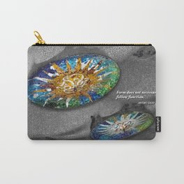 Form does not necessarily  follow function, Antonio Gaudi. Carry-All Pouch