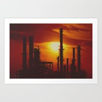 industrial Art Prints featuring Industrial... in Red by ChristyMichellePloch.com