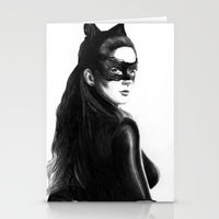 catwoman Stationery Cards featuring Catwoman by Gabriel Fox