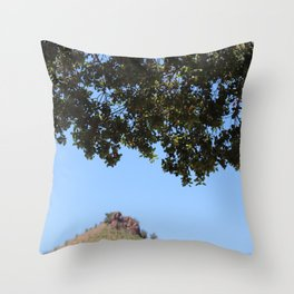 Malibu skies and wine Throw Pillow