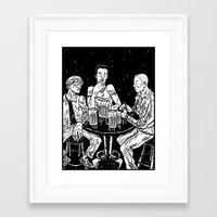 bar Framed Art Prints featuring bar by Evan R. Spears