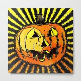 Scary Halloween Pumpkin Metal Print