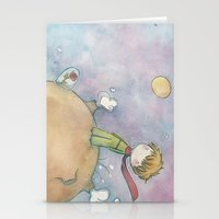 le petit prince Stationery Cards featuring Le Petit Prince by malipi