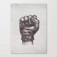 fight Canvas Prints featuring FIGHT by Lassana