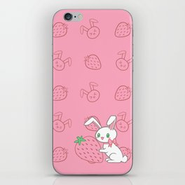 Strawberry Bunny iPhone Skin