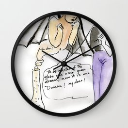 The devil and its guardian Wall Clock