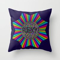 funky Throw Pillows featuring FUNKY! by A-Devine