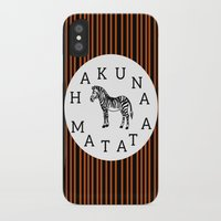 hakuna iPhone & iPod Cases featuring Hakuna Matata  by Shelby Thompson