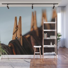 Washing line Wall Mural