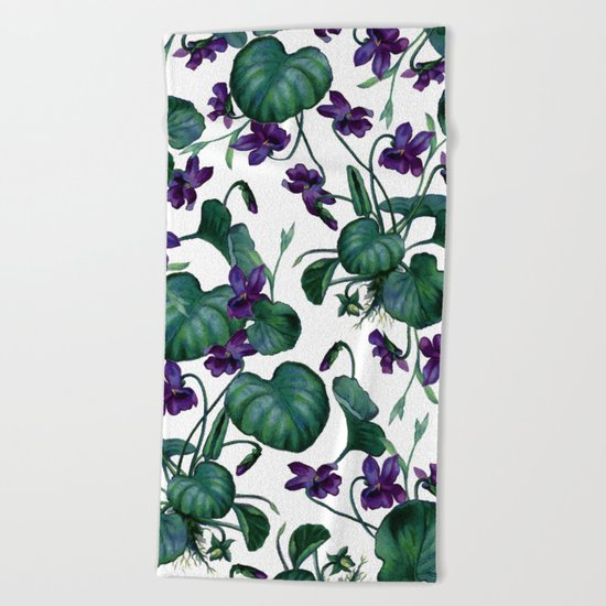 Violets #society6 #decor #buyart Beach Towel