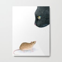 Cat 604 mouse Metal Print