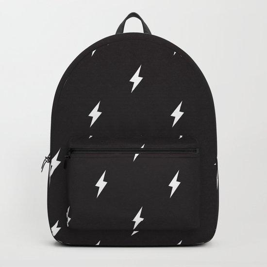 Lightning Bolt Pattern Black & White by naylasmith