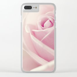Close-up view of beatiful pink rose Clear iPhone Case