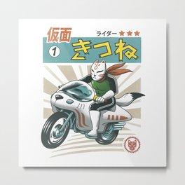 Kitsune Kamen Rider Metal Print