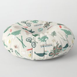 Outdoorsy and crafty Floor Pillow