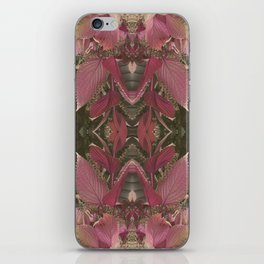 Red Shiso Warm Tones Pattern iPhone Skin