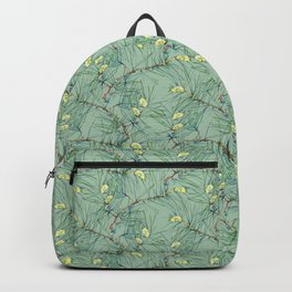Pattern of pine branches and needles Backpack