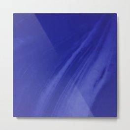 Blurred Royal Blue Wave Trajectory Metal Print