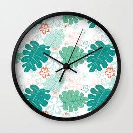 Hawaiian Holidaze Wall Clock