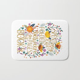 Folded Between the Pages of Books - Floral Bath Mat
