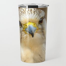 Gyrfalcon Falcon Closeup Travel Mug