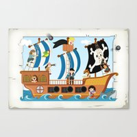 pirate ship Canvas Prints featuring Pirate ship by Michaela Heimlich
